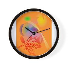 Orange Composition Wall Clock