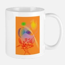 Orange Composition Mugs