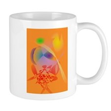 Orange Composition Mugs