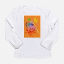 Orange Composition Long Sleeve T-Shirt