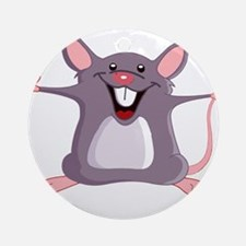 Happy Greeter Mouse Ornament (Round)