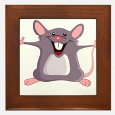 Happy Greeter Mouse Framed Tile