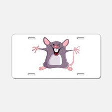 Happy Greeter Mouse Aluminum License Plate