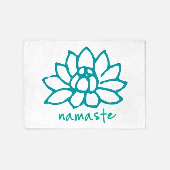 Namaste Lotus 5'x7'Area Rug