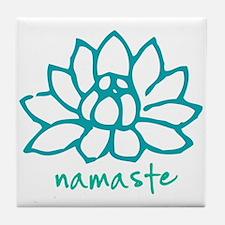 Namaste Lotus Tile Coaster