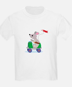 Mouse on a Skate Scooter T-Shirt