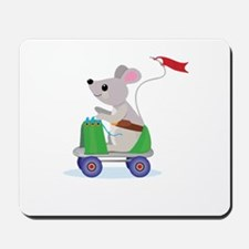 Mouse on a Skate Scooter Mousepad