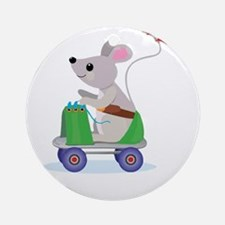 Mouse on a Skate Scooter Ornament (Round)