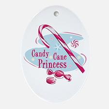 Candy Cane Princess Keepsake (Oval)