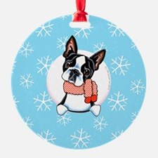 Boston Terrier Let it Snow Ornament