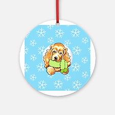 Cocker Spaniel Let it Snow Ornament (Round)