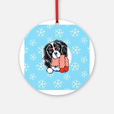 Tricolor CKCS Let it Snow Ornament (Round)
