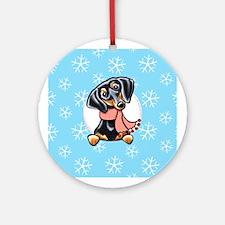 B/T Dachshund Let it Snow Ornament (Round)