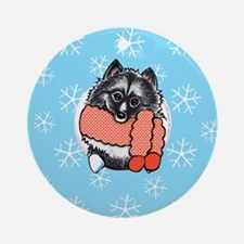 Keeshond Let it Snow Ornament (Round)