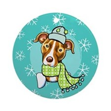 Pit Bull Let it Snow Ornament (Round)