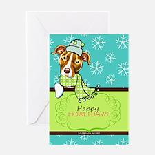 Pit Bull Happy Howlidays Greeting Card