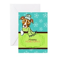 Pit Bull Happy Howlidays Greeting Cards (Pk of 10)