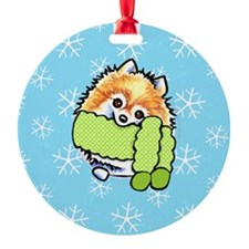 Pomeranian Let it Snow Ornament