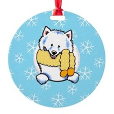 Samoyed Eskie Let it Snow Ornament