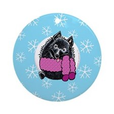 Schipperke Let it Snow Ornament (Round)