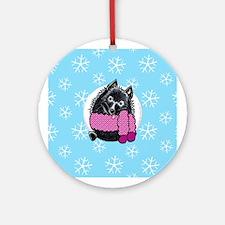 Schipperke Let it Snow Ornament (Round)