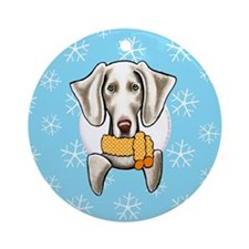 Weimaraner Let it Snow Ornament (Round)