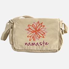 Namaste Flower Messenger Bag
