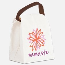 Namaste Flower Canvas Lunch Bag
