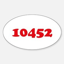 10452 Oval Decal