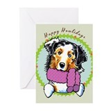 Australian shepherd christmas Greeting Cards (20 Pack)