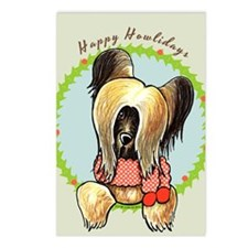 Briard Happy Howlidays Postcards (Package of 8)