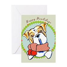 Bulldog Happy Howlidays Greeting Card