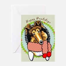 Collie Happy Howlidays Greeting Card