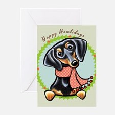 B/T Dachshund Happy Howlidays Greeting Cards (Pk o