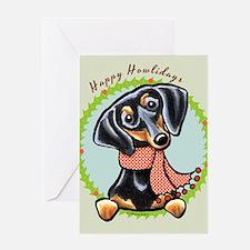 B/T Dachshund Happy Howlidays Greeting Card