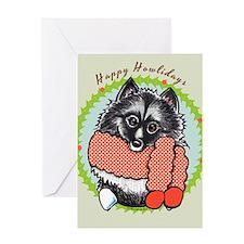Keeshond Happy Howlidays Greeting Card