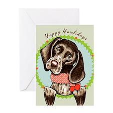 Pointer Happy Howlidays Greeting Card