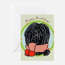Puli Happy Howlidays Greeting Card