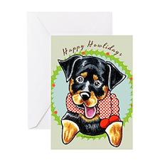 Rottweiler Happy Howlidays Greeting Card