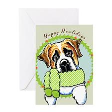 St Bernard Happy Howlidays Greeting Card