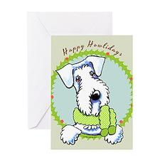 Sealyham Terrier Happy Howlidays Greeting Card