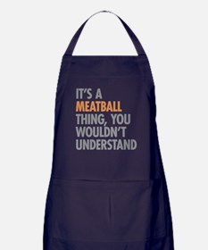 Meatball Thing Apron (dark)