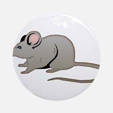 Furry Field Mouse Ornament (Round)