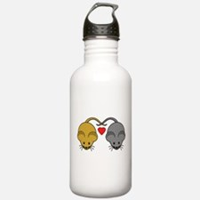 Mouse Couple of Brown Water Bottle