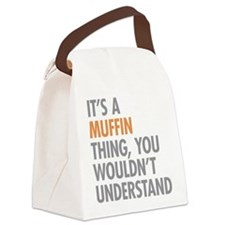 Muffin Thing Canvas Lunch Bag