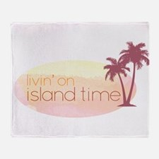 Island time 3 Throw Blanket
