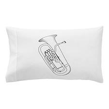 Euphonium Redwork Pillow Case