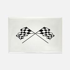 Crossed Racing Flags Magnets
