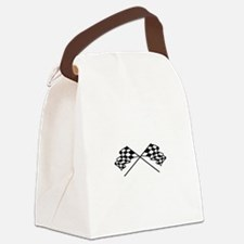 Crossed Racing Flags Canvas Lunch Bag
