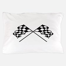 Crossed Racing Flags Pillow Case